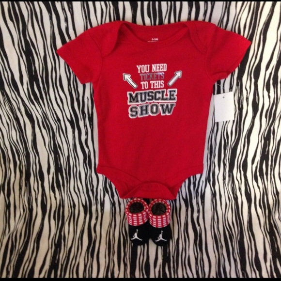 6322af1295e2 Jordan Other - NIKE AIR JORDAN BABY BOOTIES 0-6M BODYSUIT 0-3M